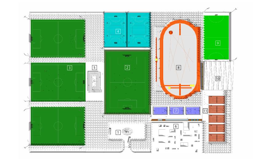 Wedstrijdveld voetbal : 3. Trainingsvelden voetbal : 4 ...